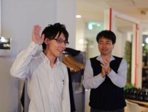 過去優勝者の京橋ファクトリー八木さん。ナヲナスというサービスでビールをいただきました!